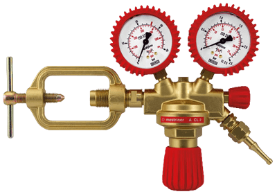 Redukční ventily, plynové lahve